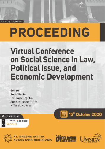 The 1st Virtual Conference on Social Science in Law, Political Issue and Economic Development's Cover Image